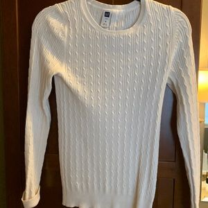 Cable knit crew neck sweater by Gap